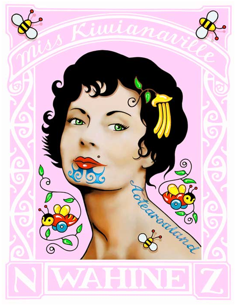 Lester Hall - Miss Kiwianaville - Stamp Style