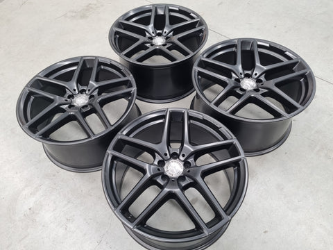 21 Inch Genuine Mercedes AMG GLE Coupe Black Wheels Set of 4