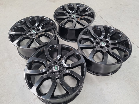 22 Inch Genuine Range Rover Sport HSE Black Alloy Wheels Set of 4