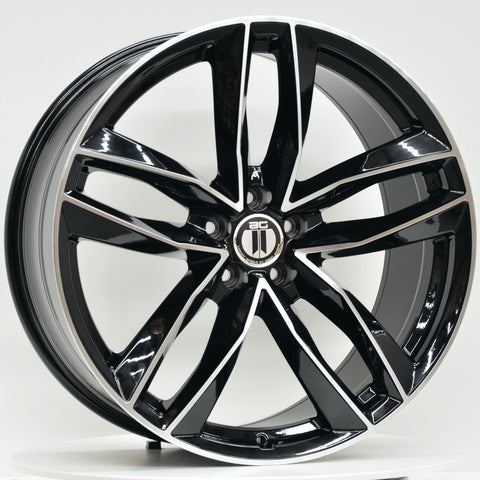 BLADE 18x8 ET45 5/112 Black Machined