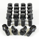 20 x WHEEL LUG BOLTS 14x1.5 27MM, BLACK