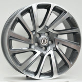 CLAW 22x9.5 5/120 GREY MACHINED