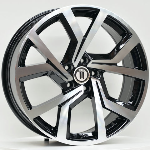 CLUB 18x8 ET45 5/112 Black Machined
