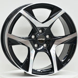CR-8 20x8.5 ET42 5/120 Black Machined Face
