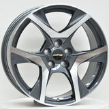 CR-8 20x8.5 ET42 5/120 Grey Machined Face