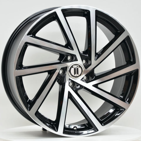 FAN 18x8 ET45 5/112 Black Machined