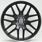 AM63E 22x10 ET50 5/112 Black Machined Lip