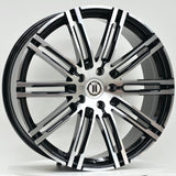 K10 22x10 ET55 Black Machined Face