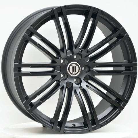K10 21 Inch Staggered Satin Black - Macan