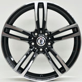 M600 19 Inch Staggered ET35 Black Machined