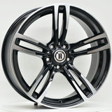 M600 20 Inch Staggered ET35 Black Machined Face