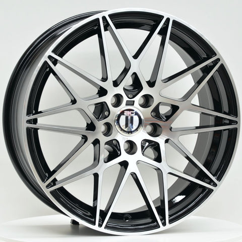 GT 19 Inch Staggered ET35 Black Machined
