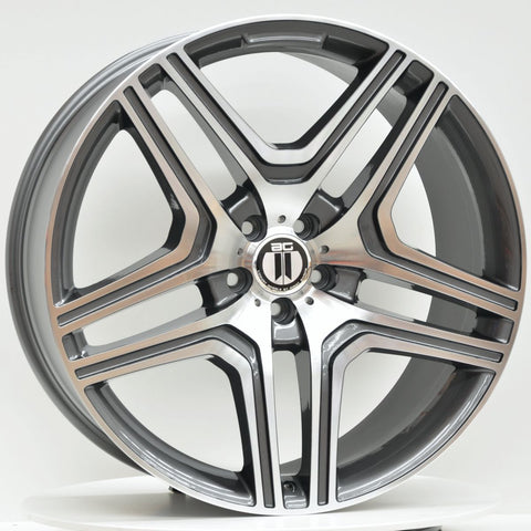 AM63M 22x10 ET48 5/112 Grey Machined Face