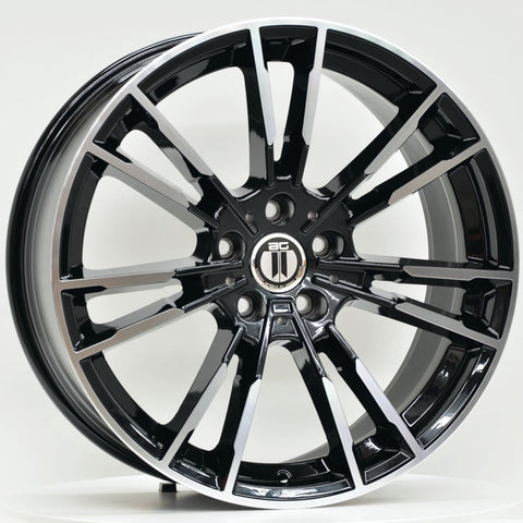 MLC 20 Inch Staggered ET23 5/112 Black Machined
