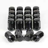 20 x WHEEL LUG NUT 12x1.25 33MM, BLACK