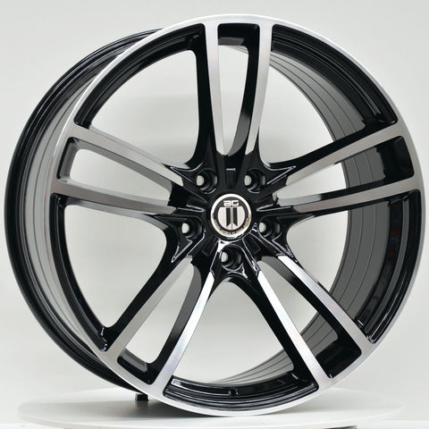 TURBO 22x10 ET55 Black Machined Face