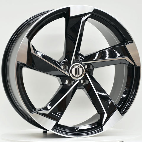 ROT2 19x8.5 ET45 5/112 Black Machined
