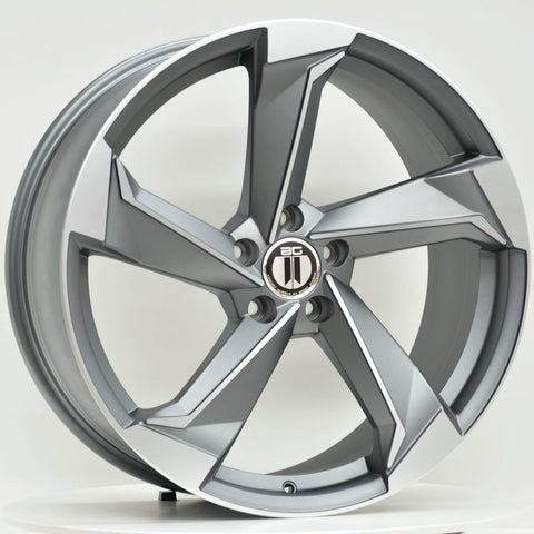 ROT2 19x8.5 ET45 5/112 Grey Machined