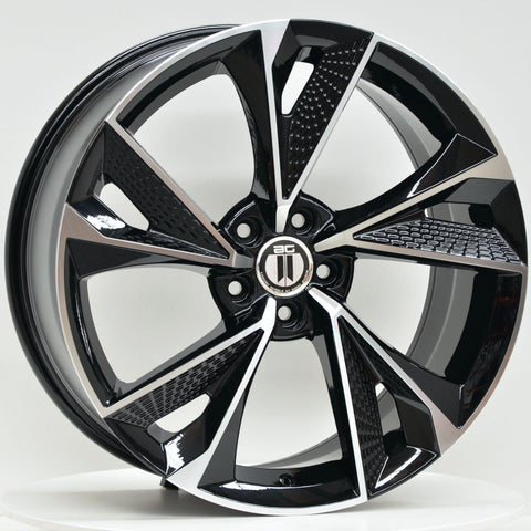FANTOM 19x8.5 ET35 5/112 Black Machined