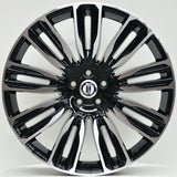 VELA 21x9.5 5/108 Black Machined Face
