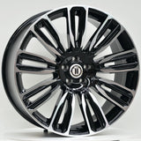 VELA 22x9.5 5/108 BLACK MACHINED