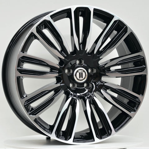 VELA 22x9.5 5/120 Black Machined Face
