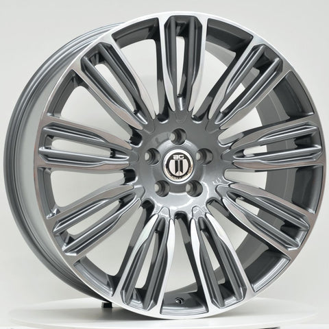 VELA 22x9.5 5/120 Grey Machined Face