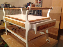 Custom Piano Bench by Bespoke Wood Ireland