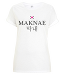 Maknae Kpop T-shirt for Women - Rolled Sleeves