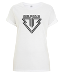 kPopLondon BigBang Kpop BoyBand - Women's Rolled Sleeve T-Shirt [White]