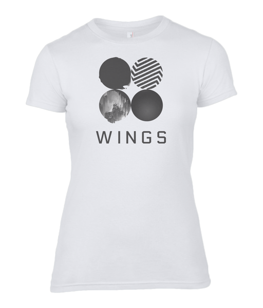 kPoppit BTS Army Wings - Women's Fitted T-Shirt 100%