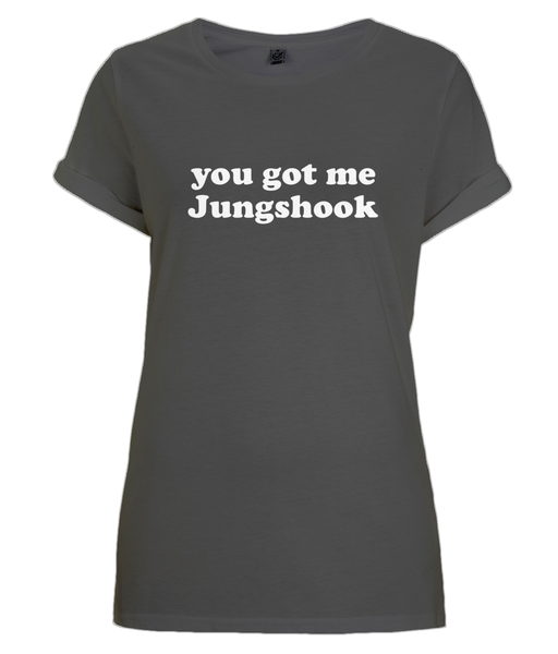 Kpop Fan BTS Jungshook T-Shirt | Rolled Sleeves 100% Cotton
