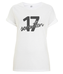 kPopLondon Seventeen Kpop BoyBand - 17 Women's Rolled Sleeve T-Shirt [White]