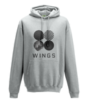 BTS Army Wings - Grey College Hoodie [Unisex]