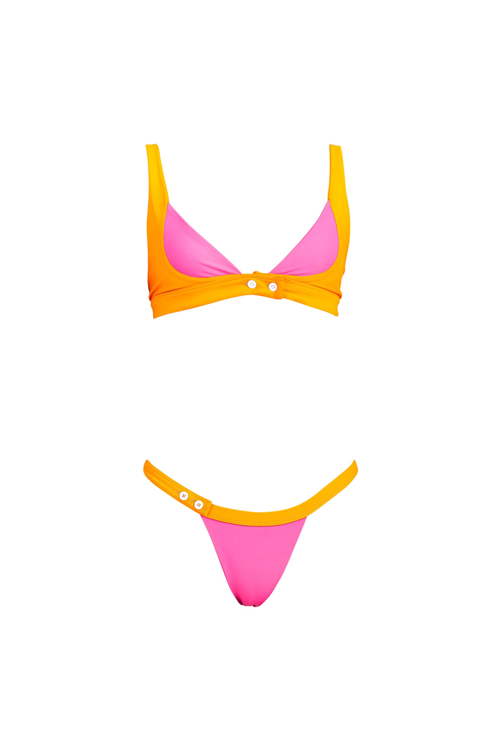 BANDIT top - tangerine/ hot pink