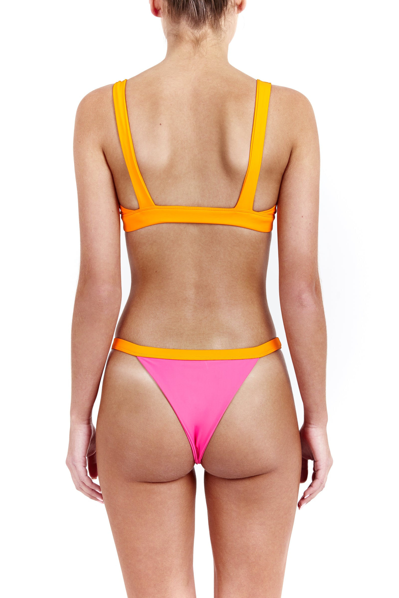 BANDIT bottoms - tangerine/ hot pink
