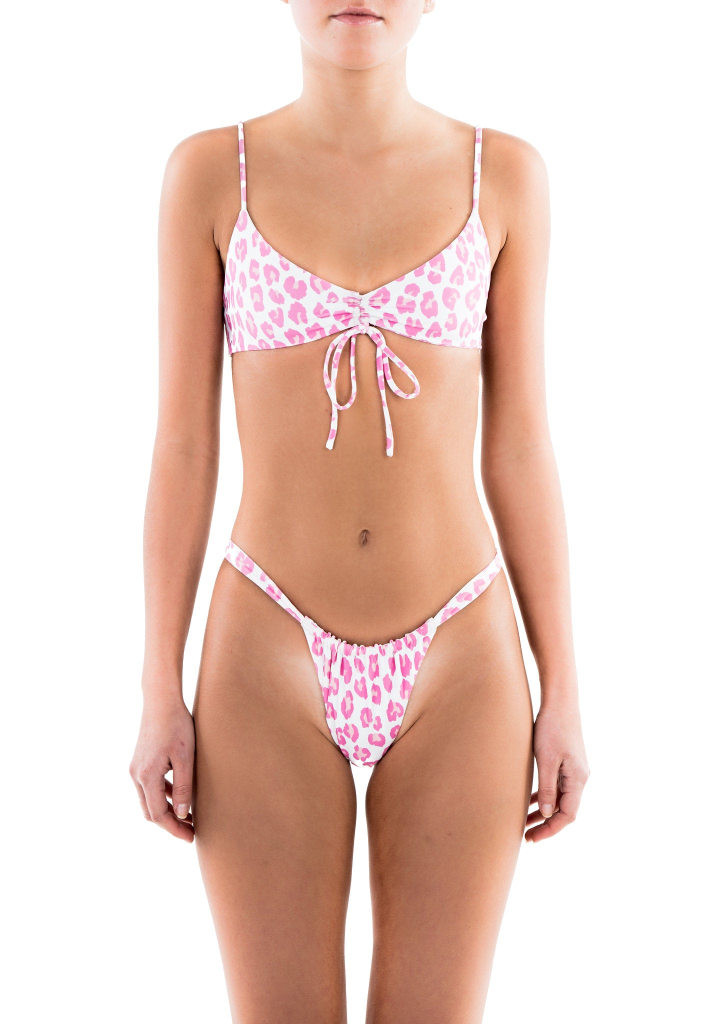AMORE bottoms - pink leopard