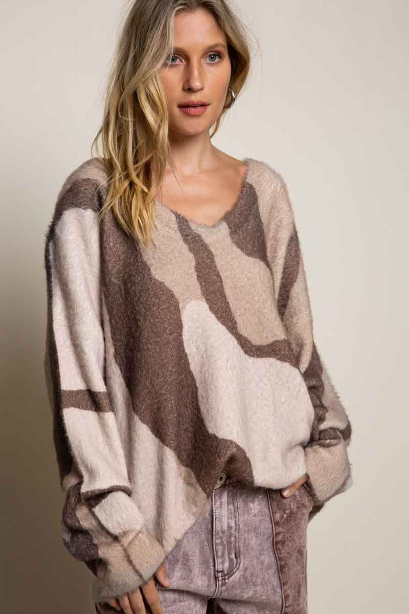 Printed Zebra Sweater