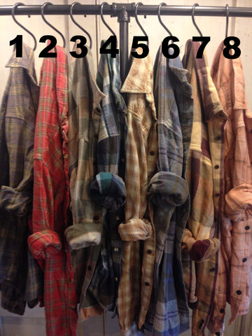 Farmstead Vintage Washed Flannel Shirts- Size Extra Large (A)