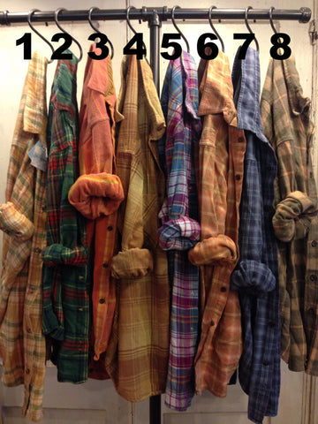 Farmstead Vintage Washed Flannel Shirts- Size Extra Large (C)