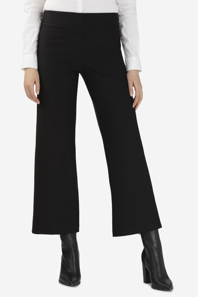 Compression Knit Pull-On Palazzo Pants