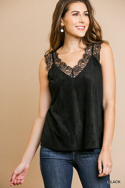 Suede Lace Cami