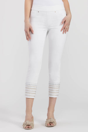 Embroidered Pull- On Jeggings