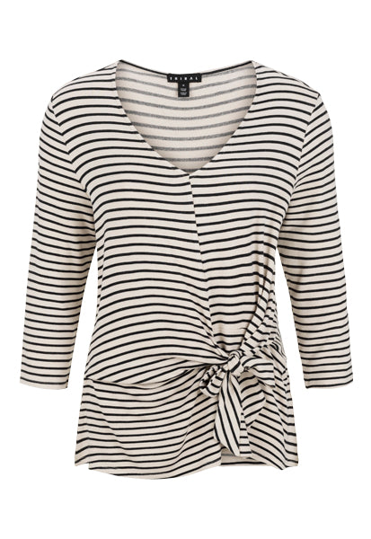 Knot Front Striped Top