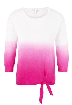 Dip Dye Sweater with Knot Front