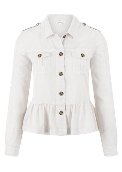 Soft Touch Peplum Shirt Jacket