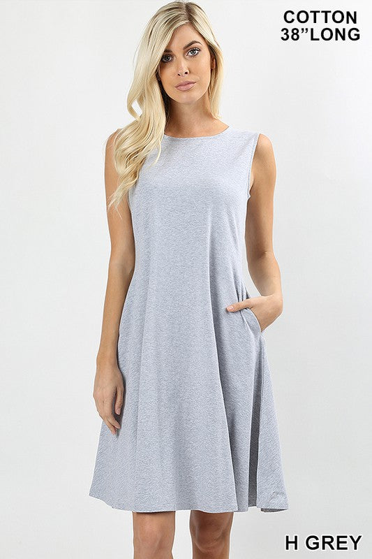 Sleeveless A-Line Classic Dress