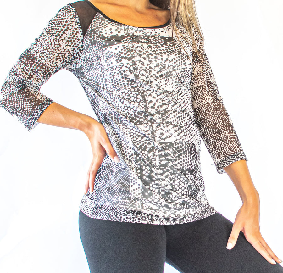 3/4 Sleeve Speckle Top