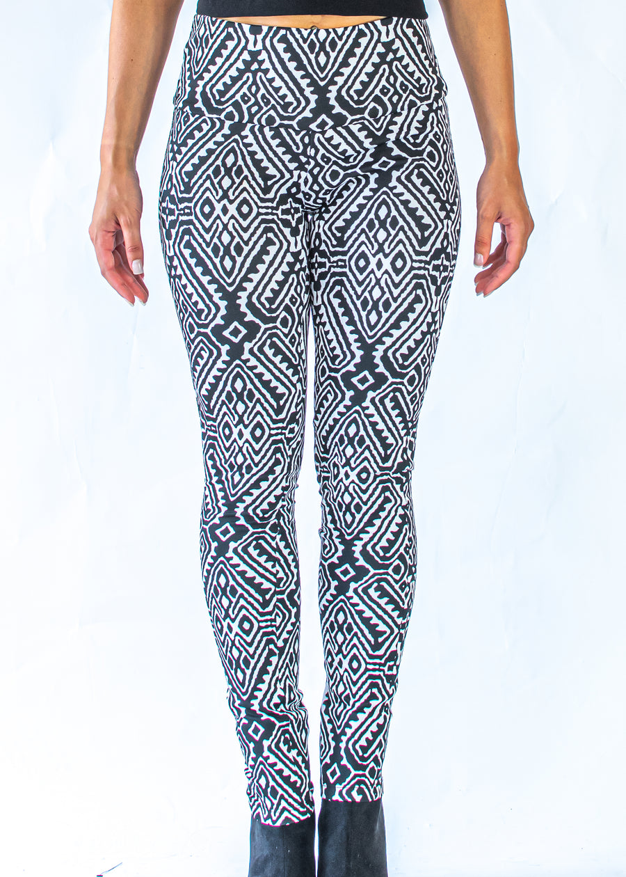 Geometric Fitted Pants