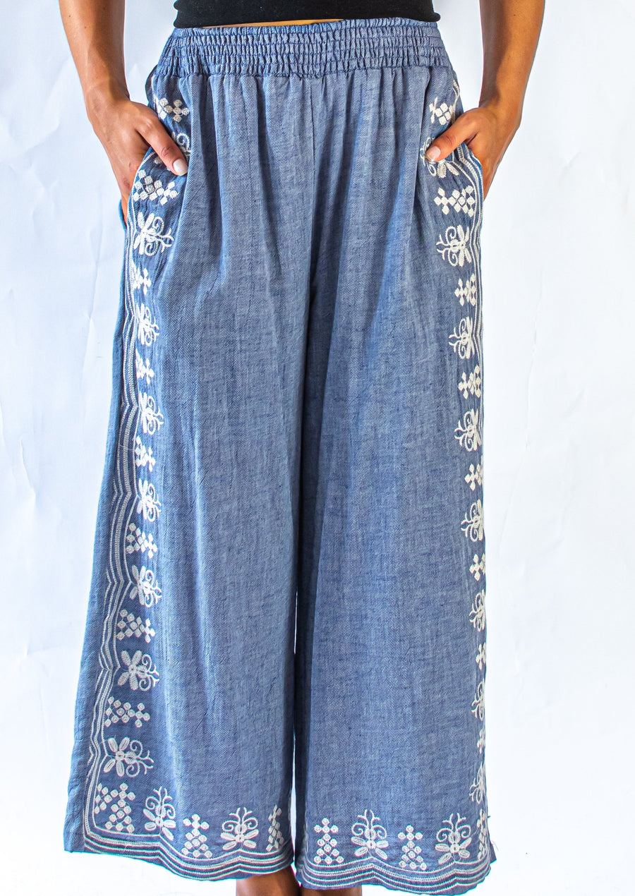 Embroidered Culotte